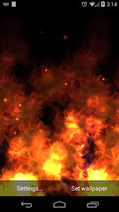 KF Flames Free Live Wallpaper - screenshot thumbnail