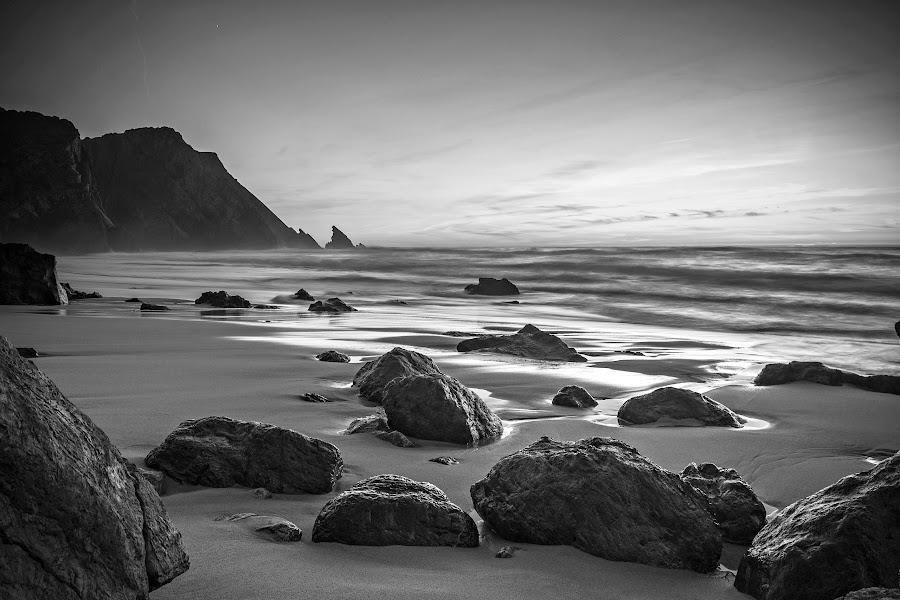 Praia da Adraga by Carla Quelhas Lapa - Black & White Landscapes