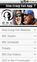 Screenshot of One Crazy Fan App
