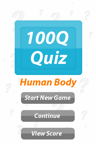 Human Body - 100Q Quiz - screenshot