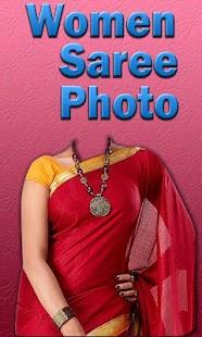 Woman Saree Photo Montage
