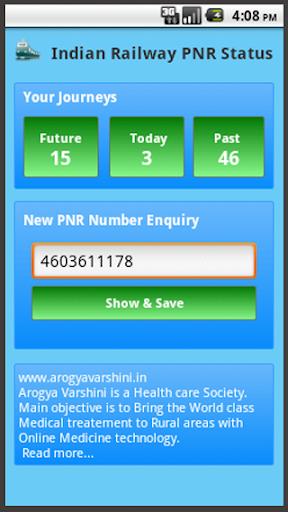 Indian Railway PNR Status