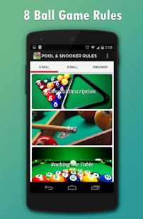 Pool & Snooker Rules- screenshot thumbnail