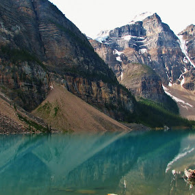 moraine lake reflection by Ryan Chornick - Landscapes Mountains & Hills (  )