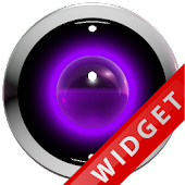 Poweramp Widget Purple Robot