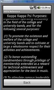 Kappa Kappa Psi Reference App- screenshot thumbnail
