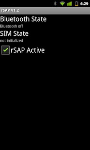 Bluetooth SIM Access Profile - screenshot thumbnail