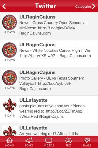 UL Lafayette Mobile- screenshot