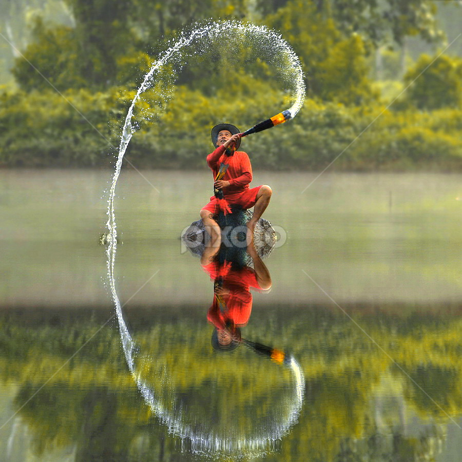 A steady stream of happiness  by DODY KUSUMA  - People Professional People ( color, colors, object, filter forge, landscape, portrait, Free, Freedom, Inspire, Inspiring, Inspirational, Places, People, Emotion, fall, colorful, nature, , relax, tranquil, relaxing, tranquility, #GARYFONGDRAMATICLIGHT, #WTFBOBDAVIS )