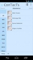 Screenshot of Phone Book ConTacTs Cute Blue