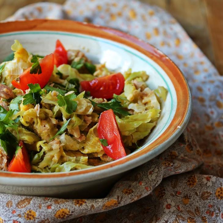 Tuna a Bras with Savoy Cabbage Recipe