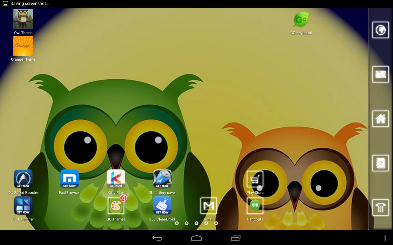 Google themes rasta - Cute Owl Theme Screenshot