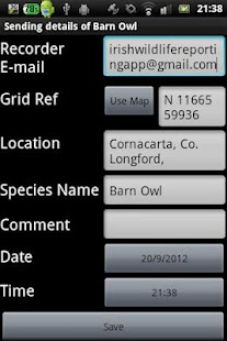 Irish Roadkill Reporting App- screenshot thumbnail