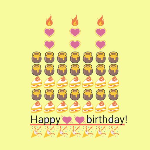 Birthday Art Emoji Keyboard
