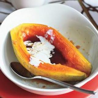 Roasted Brown-Sugar Papaya