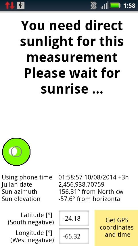 Precise North - Solar Compass- screenshot