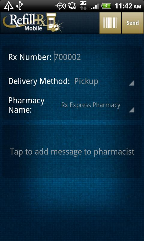 RefillRx Mobile- screenshot