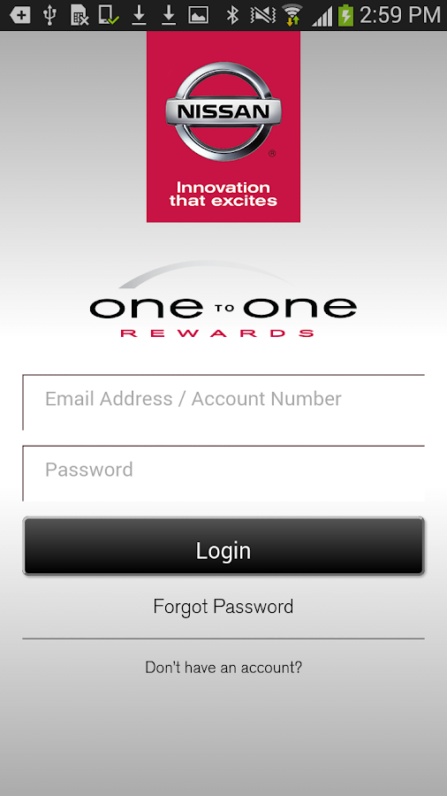 Nissan One To One Rewards- screenshot