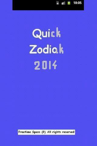 Quick Horoscope Zodiac 2014