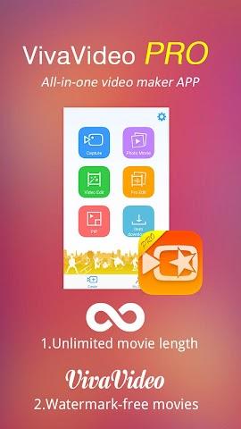 android VivaVideo Pro:édition de vidéo Screenshot 0