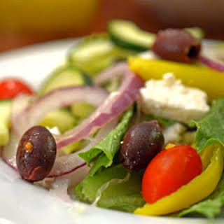 Greek Salad with Easy Greek Salad Dressing.