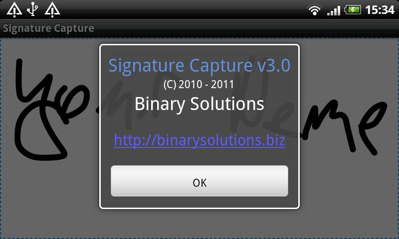 Signature Capture - screenshot
