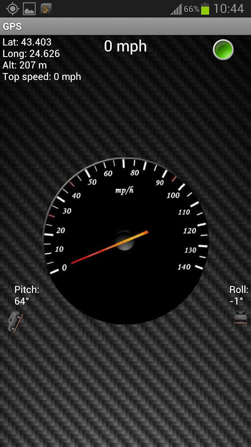 GPS Speedometer & Flashlight - screenshot