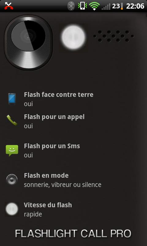 Flashlight Call Pro - screenshot