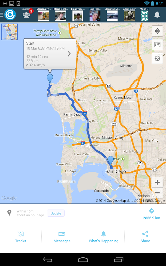 Hellotracks - GPS Tracking - screenshot