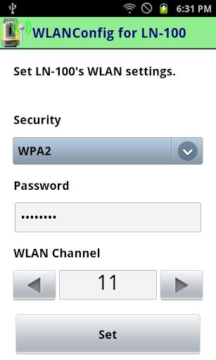 WLANConfig for LN-100 1.1.1 Windows u7528 2