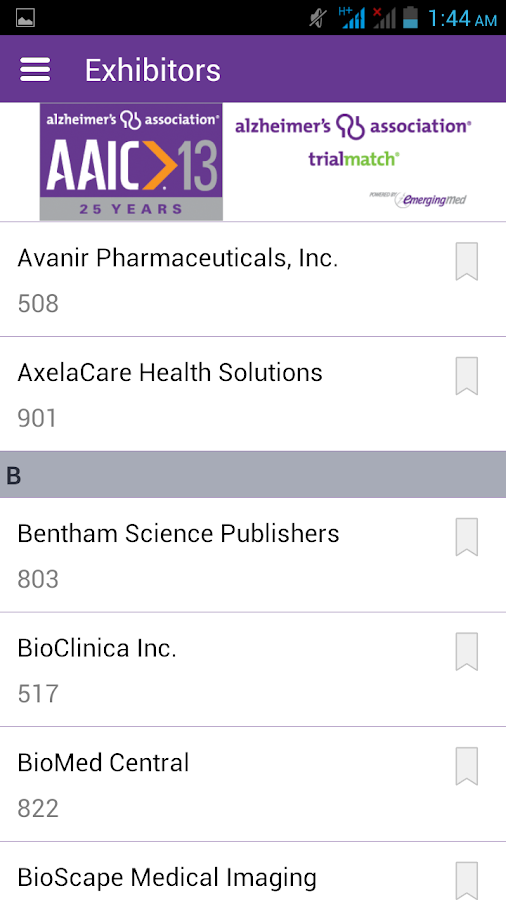 AAIC 2013 - screenshot