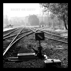 crossover by Charles KAVYS - Typography Captioned Photos ( crossover, rail, bw, olomouc, city )