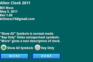 Screenshot of Alien Clock