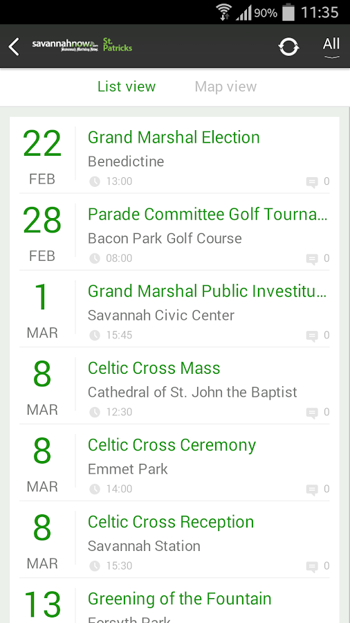 SavannahNow St. Patrick's App- screenshot