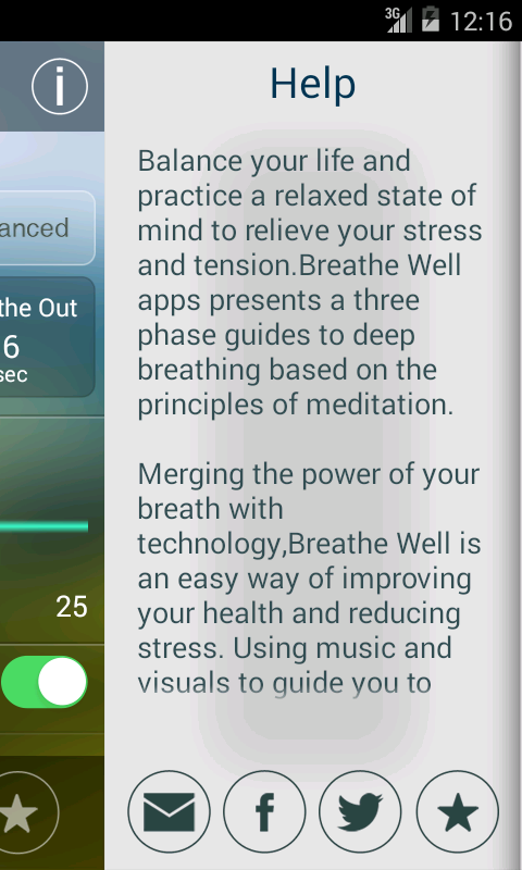 Breathe Well - screenshot