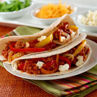 Chipotle Sausage & Pepper Tacos.
