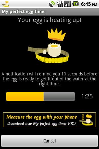 My perfect egg timer - screenshot