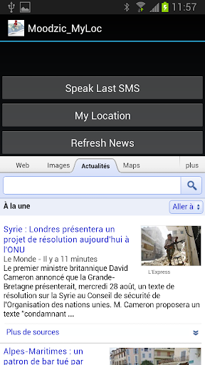 Localisation via SMS