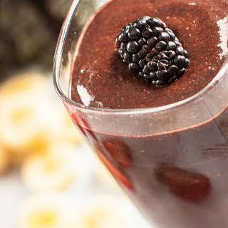 Chocolate Berry Kale Smoothie.