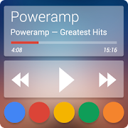 Skin for Poweramp Now TRSPRNT