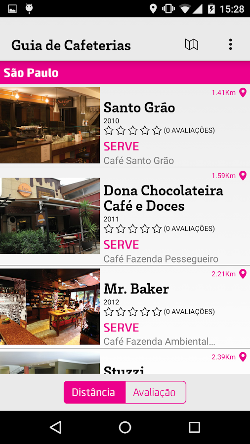 Guia de Cafeterias do Brasil- screenshot