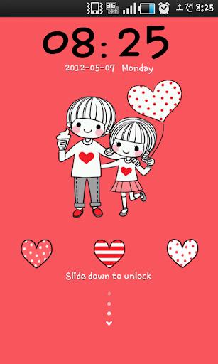 個人化必備APP下載|Dasom couple 1 go locker theme 好玩app不花錢|綠色工廠好玩App