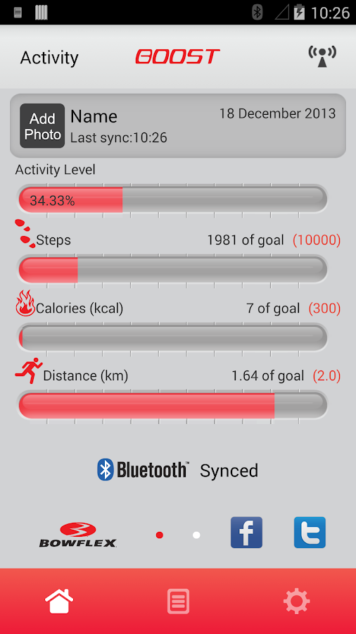 Bowflex Boost - screenshot