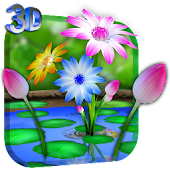 3D Flowers Touch Wallpaper