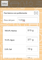 Screenshot of Porcentaje de panadero