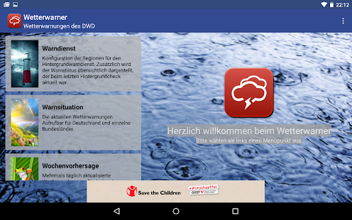 Wetterwarner Screenshot
