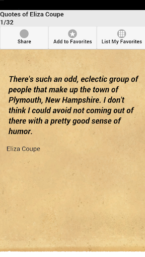 Quotes of Eliza Coupe