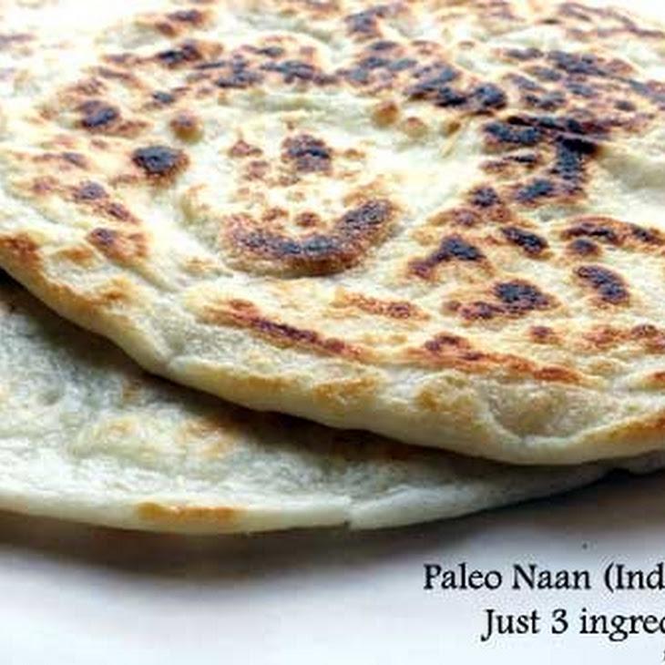 3 Ingredient Paleo Naan (Indian Bread) Recipe