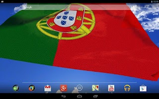 Screenshot of 3D Portugal flag LWP