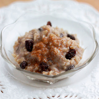 Cinnamon & Raisin Brown Rice Pudding.